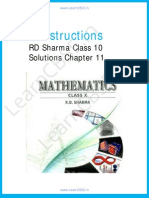 RD Sharma Class 10 Solutions Constructions
