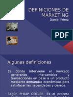 Definiciones de Marketing