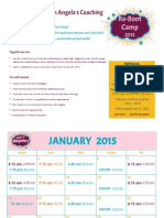 January -February 2015 Workout Schedule