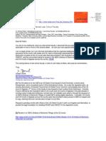 2010-01-12 Huminski v Rutland Police Department (1:99 -cv-160) Letter to Prof Fallon Harvard Law in re