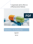 The TRIPs Agreement and Its Effect on India Pharmaceutical Industry