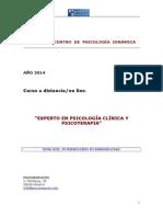 Experto en Psicología Clínica y Psicoterapia.tema Xiii.intervención en Emergencias