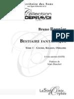 Trois Miniatures Pour Un Bestiaire Fantastique (Regnier)