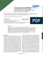 MAPPFinder using GO and GenMAPP to study gene expression