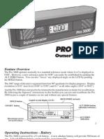 Pro 3600 Manual