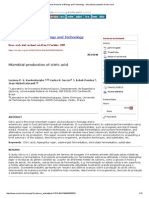 Brazilian Archives of Biology and Technology - Microbial Production of Citric Acid