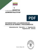 Estandar Elaboracion Manuales Norma Procedimiento