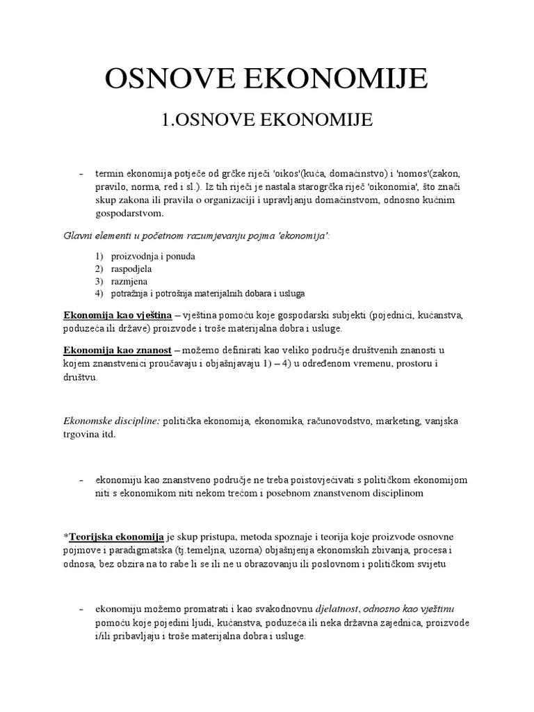 Skripta Osnove Ekonomije 3 Pdf