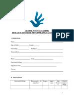GJA Research Associate Application Form-2015