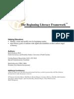 beginning literacy framework