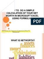 how to do a simple calculation of your net worth in microsoft excel
