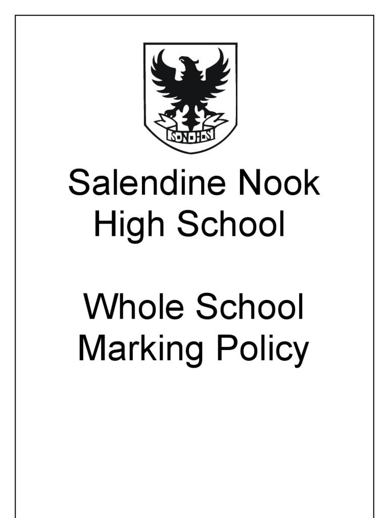 Salendine Nook High School Whole School Marking