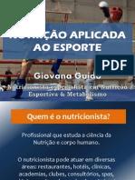 Nutrição Aplicada Ao Esporte - Rj - 11.02.12