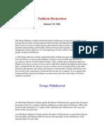 Tashkent Declaration by Asif Raja