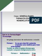 Generalidades Farmacologia I