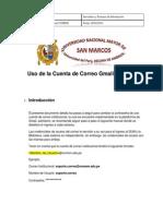 Uso de La Cuenta de Correo Gmail-UNMSM