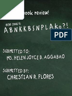 ABNKKBSNPLAko - Bob Ong (Book Review) | Philippines | Schools