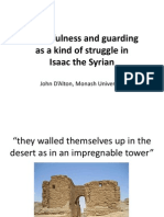 Watchfulness and guarding as struggle - jihad -in Isaac