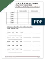 III Maths Worksheets