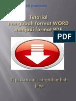 Tutorial mengubah format word menjadi PDF
