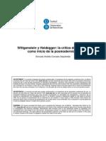 Wittgeinstein y Heidegger -La Critica Del Sentido Como Inicio de La Posmodernidad