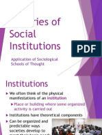 3 Theories of Social Institutions