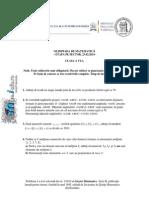 Subiecte Olimpiada Locala Matematica Bucuresti 2014