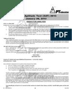 XAT 2013 Analysis PT Education
