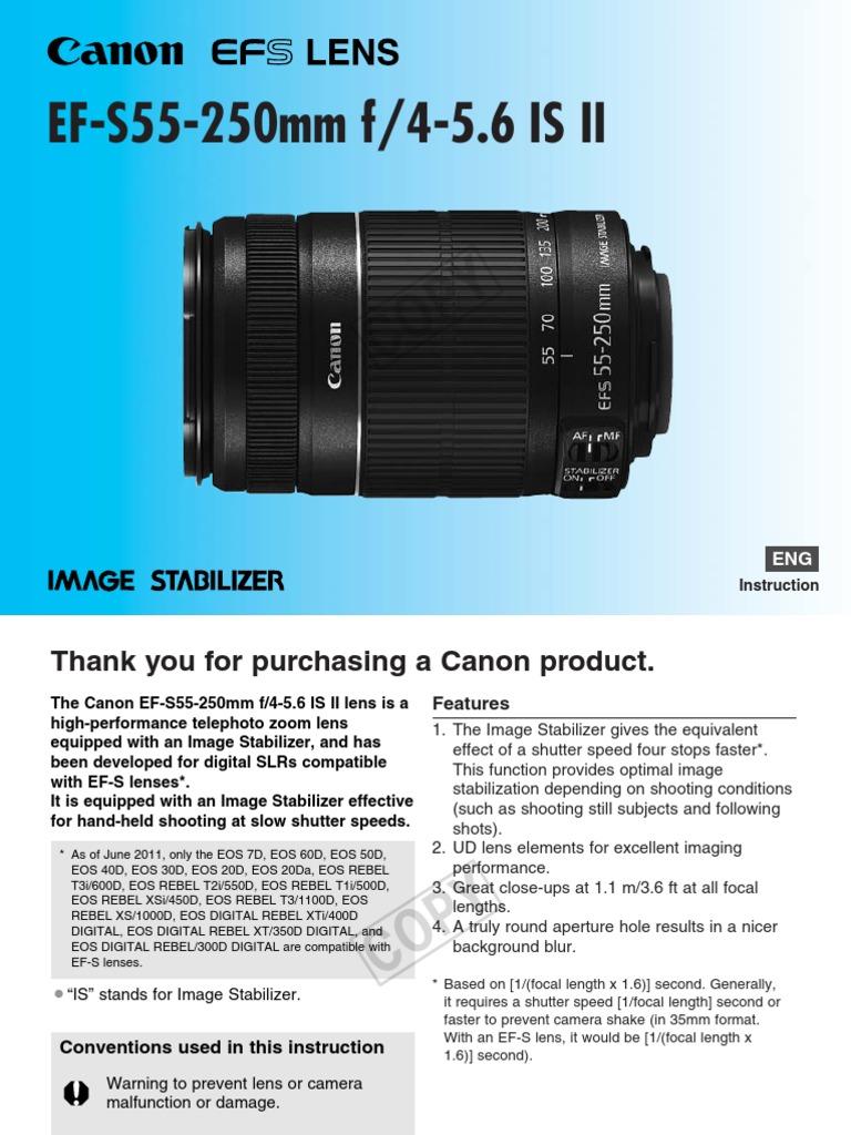 TeleCanon_55-250 | Image Stabilization | Camera Lens
