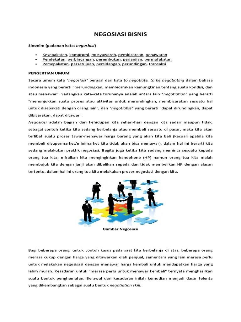 35 Contoh Kasus Negosiasi Bisnis Info Dana Tunai