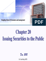 Chapter 20 Issuing Securities to the Public