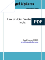 Law of Joint Ventures in India- Article