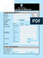 Villa College Application Form v2