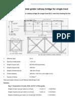 Design a Deck Type Plate Girder Railway Bridge for Single Tract