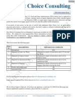 US FDA Prior Notice Form - First Choice Consulting Services