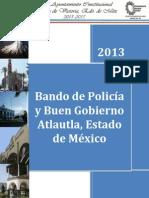 Bando de Policia y Buen Gobierno Municipal de Atlautla 2014