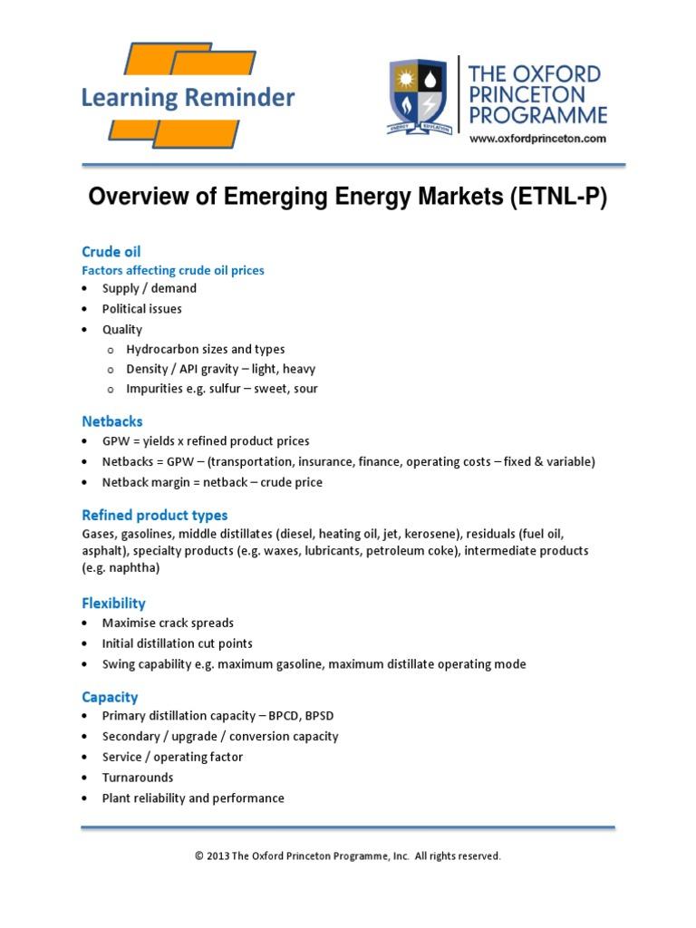 Refinery Economics | Oil Refinery | Cracking (Chemistry)