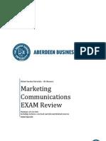 Marketing Communications Exam Summary