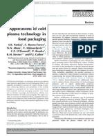 Trends in Food Science & Technology Volume issue 2013 [doi 10.1016_j.tifs.2013.10.009] Pankaj, S.K.; Bueno-Ferrer, C.; Misra, N.N.; Milosavljević, V -- Applications of cold plasma technology in foo