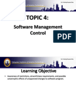 Topic 4 Software Management Control