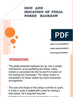 Design and Fabrication of Pedal Powered Hacksaw
