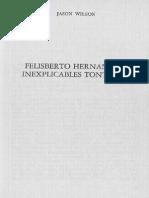 Wilson, Jason - Felisberto Hernández, Inexplicables tonterías