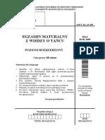 Matura 2009 - Wiedza o Tańcu Rozszerzona - Arkusze Maturalne