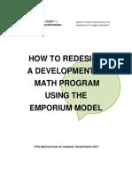 Redesign Dev Math Using the Emporium Model