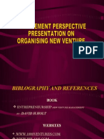 Organising New Venture