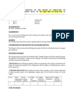 Transfer Minutes
