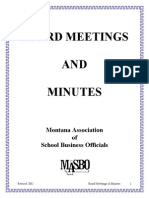 Board Meetings and Minutes