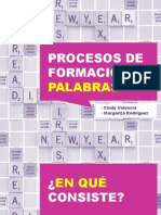 Procesos de Formacion de Palabras