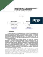l'economie Marocaine Face a La Transmission Des
