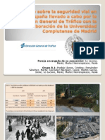 Estudio Sobre La Seguridad Vial en España Llevado